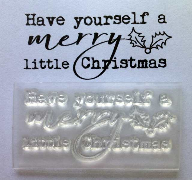 Have Yourself A Merry Little Christmas Clear Typewriter