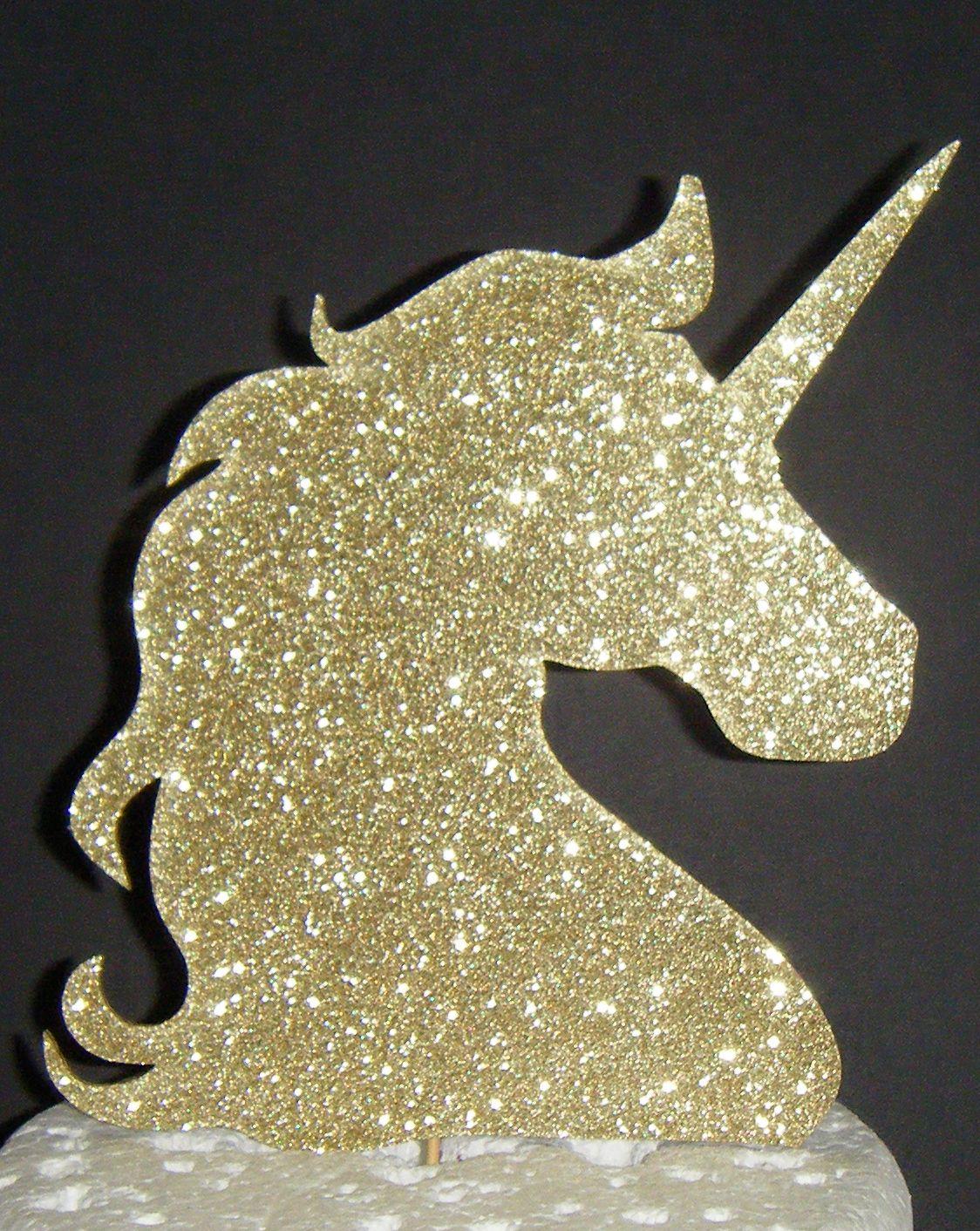 Unicorn Head Cake Topper