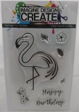 Imagine Design Create Flamingo Fun A6 stamps