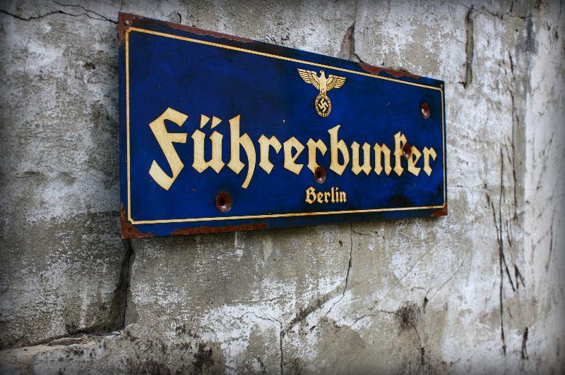 Fhrerbunker Steel Sign Vintage WWII Adolf Hitler Bunker