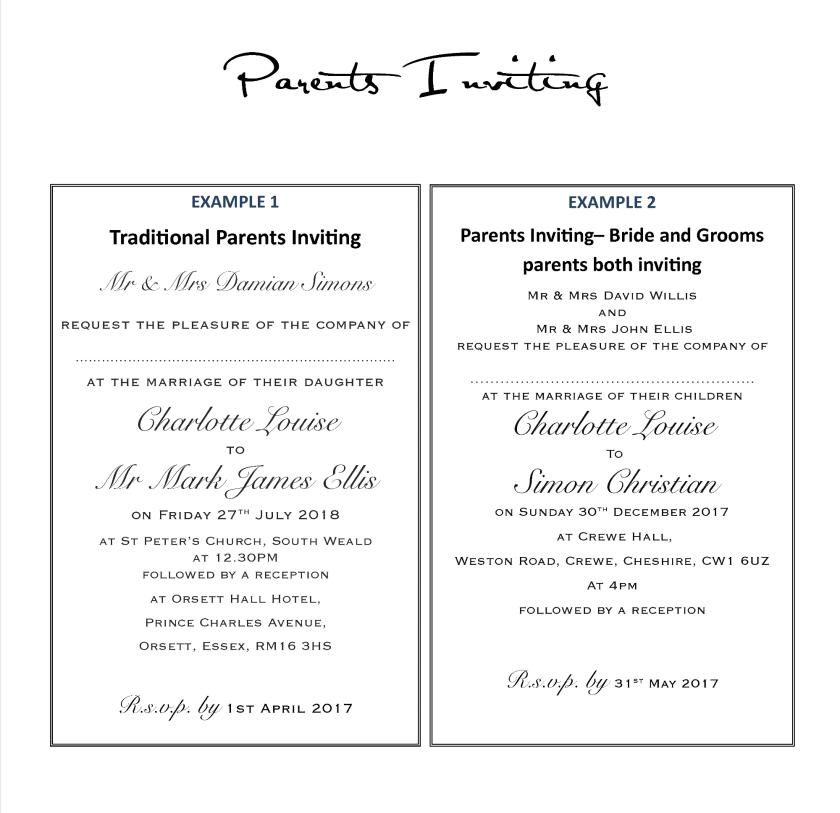 Wedding Invitation Wording Exles Amor Designs