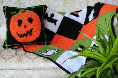 Halloween Cushion and Throw Kit