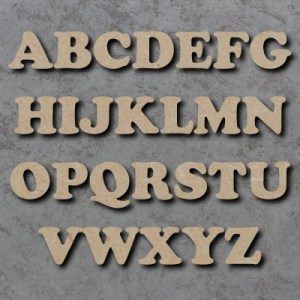 Cooper Font Single Wooden Letters UK Cooper Font Single mdf Wooden Letters   PRICE PER LETTER