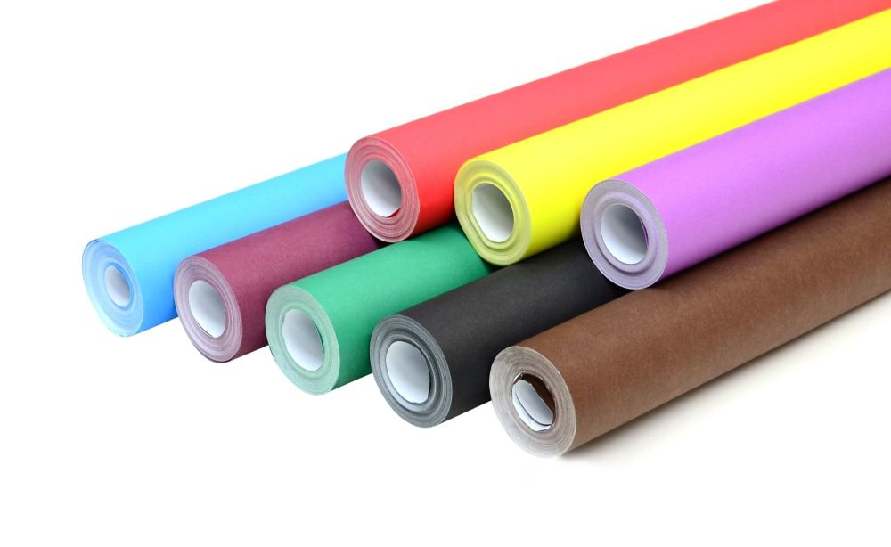 bright wide poster paper rolls 1020mm x 10m assorted pack of 8