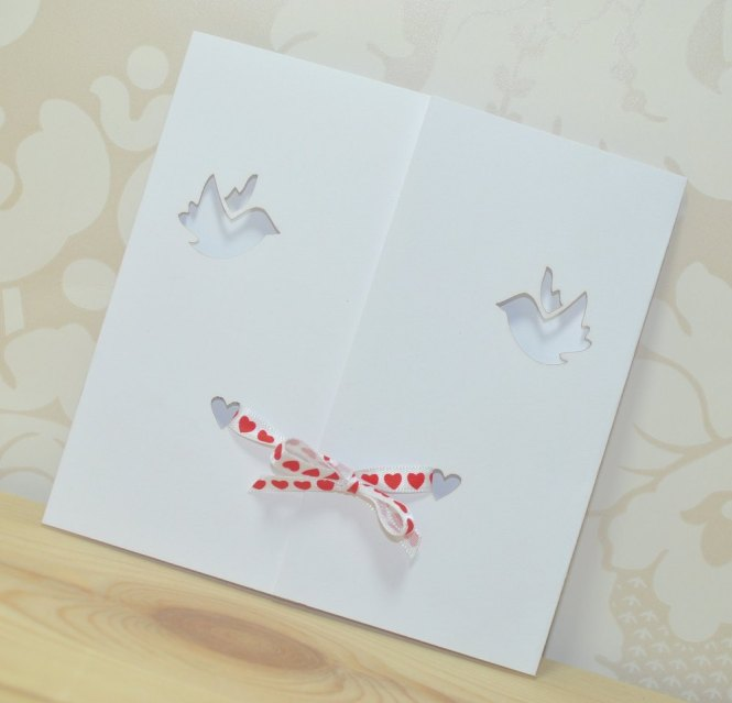 Dove Gatefold Wedding Invitation