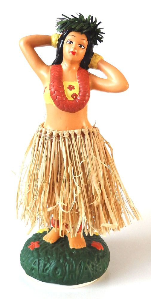 KC Hawaii 7 Porcelain Hawaiian Dashboard Hula Doll