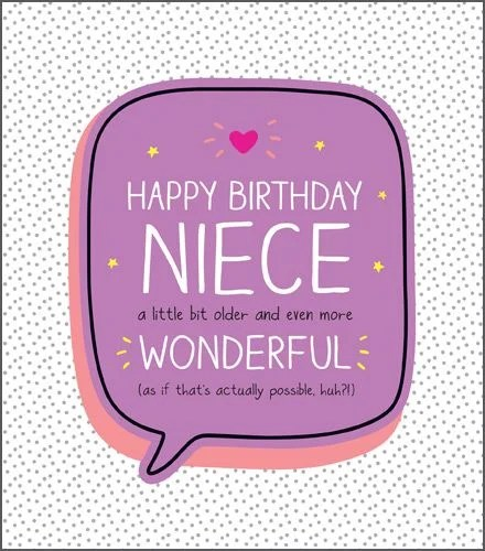 Birthday Card For Niece Even More Wonderful Happy Birthday Greeting Card Funny Niece Birthday Card Sparkly Birthday Card Pretty Card