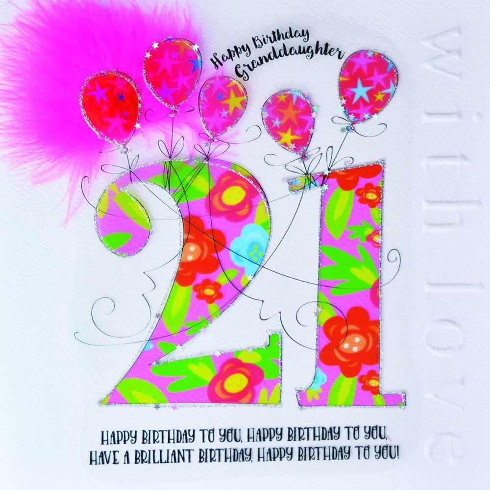 21st Birthday Card For Granddaughter Luxury Boxed 21st Birthday Card Happy Birthday Granddaughter 21st Birthday Card For Granddaughter