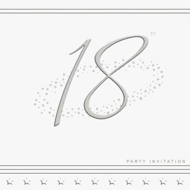 18th Silver Foil Birthday Party
