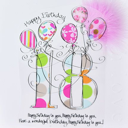 18th Birthday Cards Happy Birthday To You Luxury Boxed 18th Birthday Card Birthday Card For Her 18th Card For Granddaughter Goddaughter