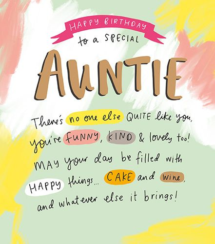 Special Auntie Birthday Cards You Re Funny Kind Lovely Birthday Cards For Auntie Auntie Birthday Cards Aunt Birthday Card