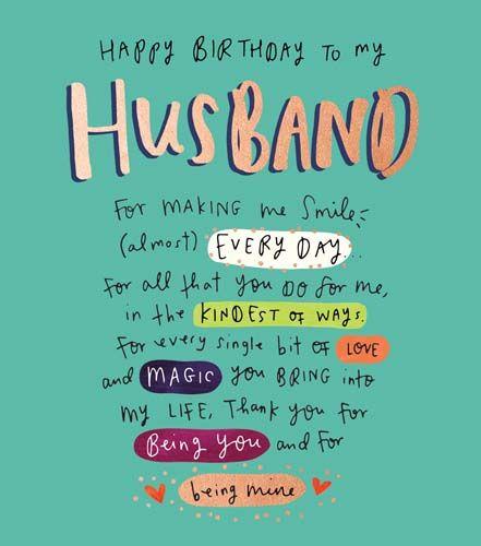 Happy Birthday To My Husband Birthday Card Love Magic You Bring Into My Life Husband Birthday Cards Birthday Cards For Husband