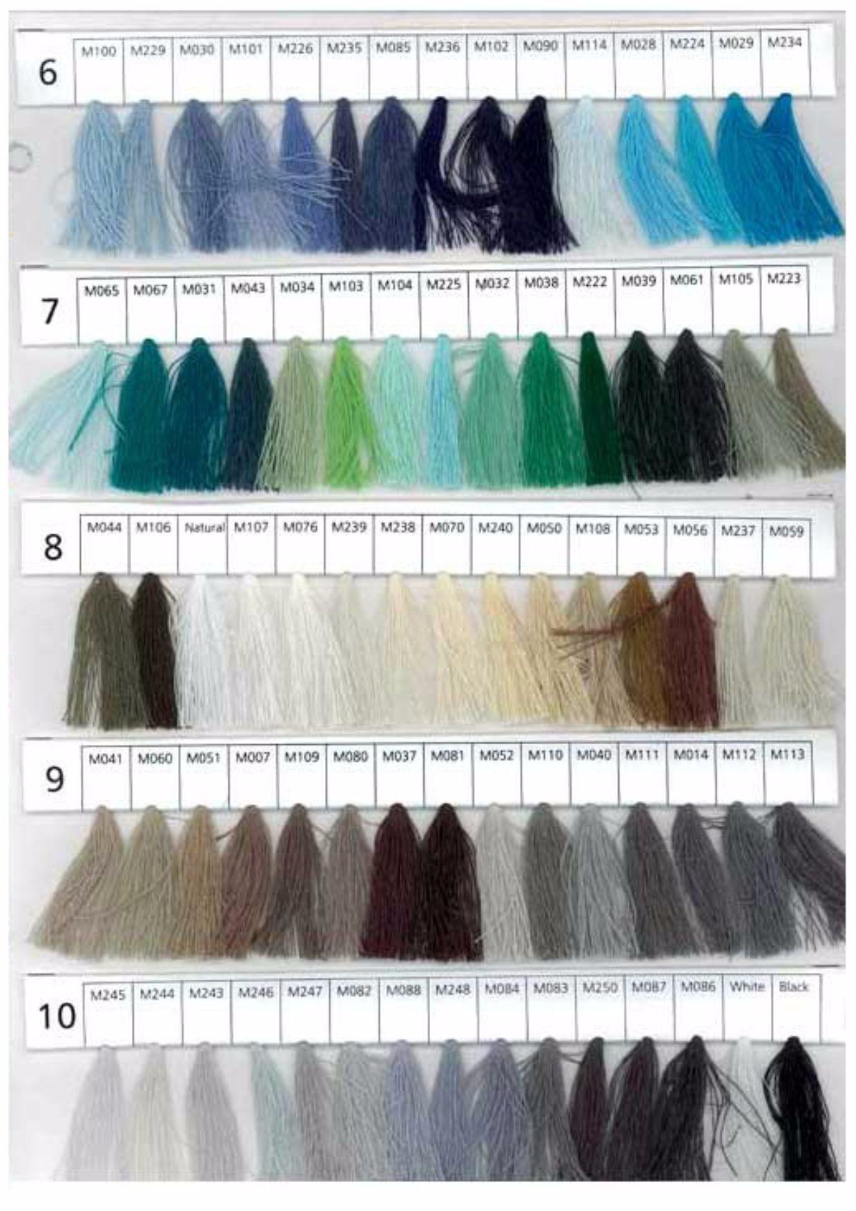 Coats Moon Thread Shade Card