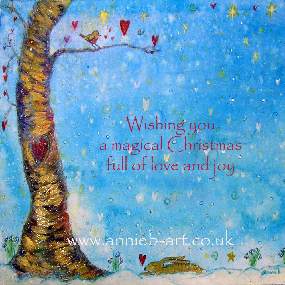 Beautiful Christmas Cards Created By Annie B Art Here In