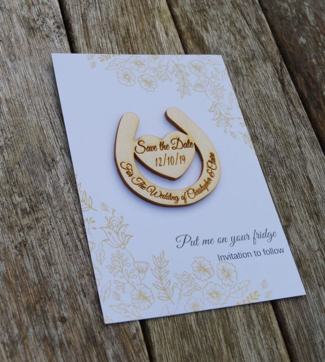 Diy Wooden Save The Date Magnet Kit Magnets Make Your Own Dates Wedding Invitation