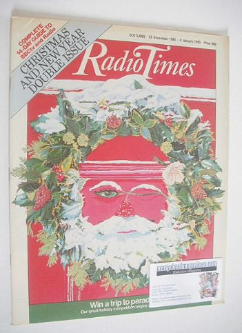 Radio Times Magazine Christmas Cover 22 December 1984