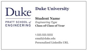 business cards front - Student Business Card