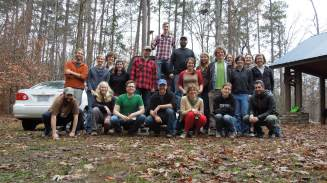 Members of the Bernhardt, Heffernan, McGlynn, Morris and Wright labs following a hard fought field skills olympics in December 2012. For a full description of the events and standings visit http://bernhardtlab.weebly.com/2012-lab-o-lympics-challenge.html