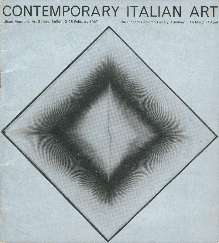14 March - 7 April 1967. Exhibition catalogue (cover). Contemporary Italian Art.