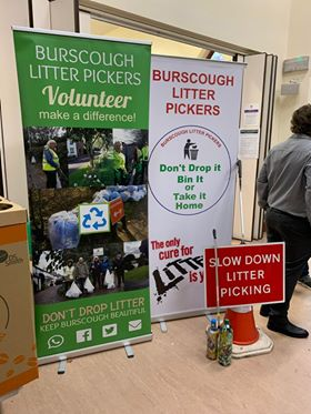Burscough Litter Pickers banners and signs