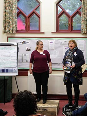 Dr Alison Clark and Ms Brigette Wafer talking at the Sustainability in the Region event