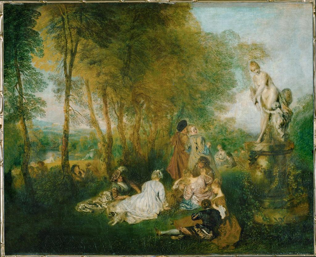 Baroque and Rococo Art in Italy and France   Jean Antoine Watteau  The Festival of Love  1717  French Rococo painting