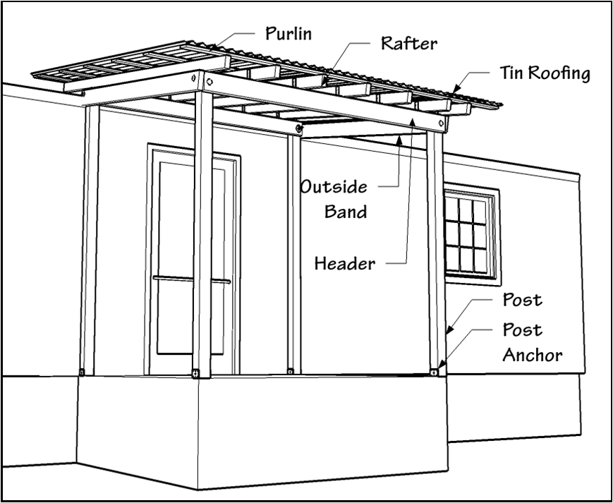 a porch roof components ccc project