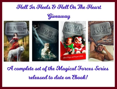 Hell in Heels and Hell on the Heart giveaway banner