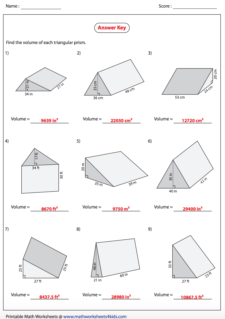 worksheet Volume Of Triangular Prism Worksheet Pdf volume of prism worksheet isaac newton coloring page tri ngul r nswers nms self p ced m thsc1stfree worksheets library