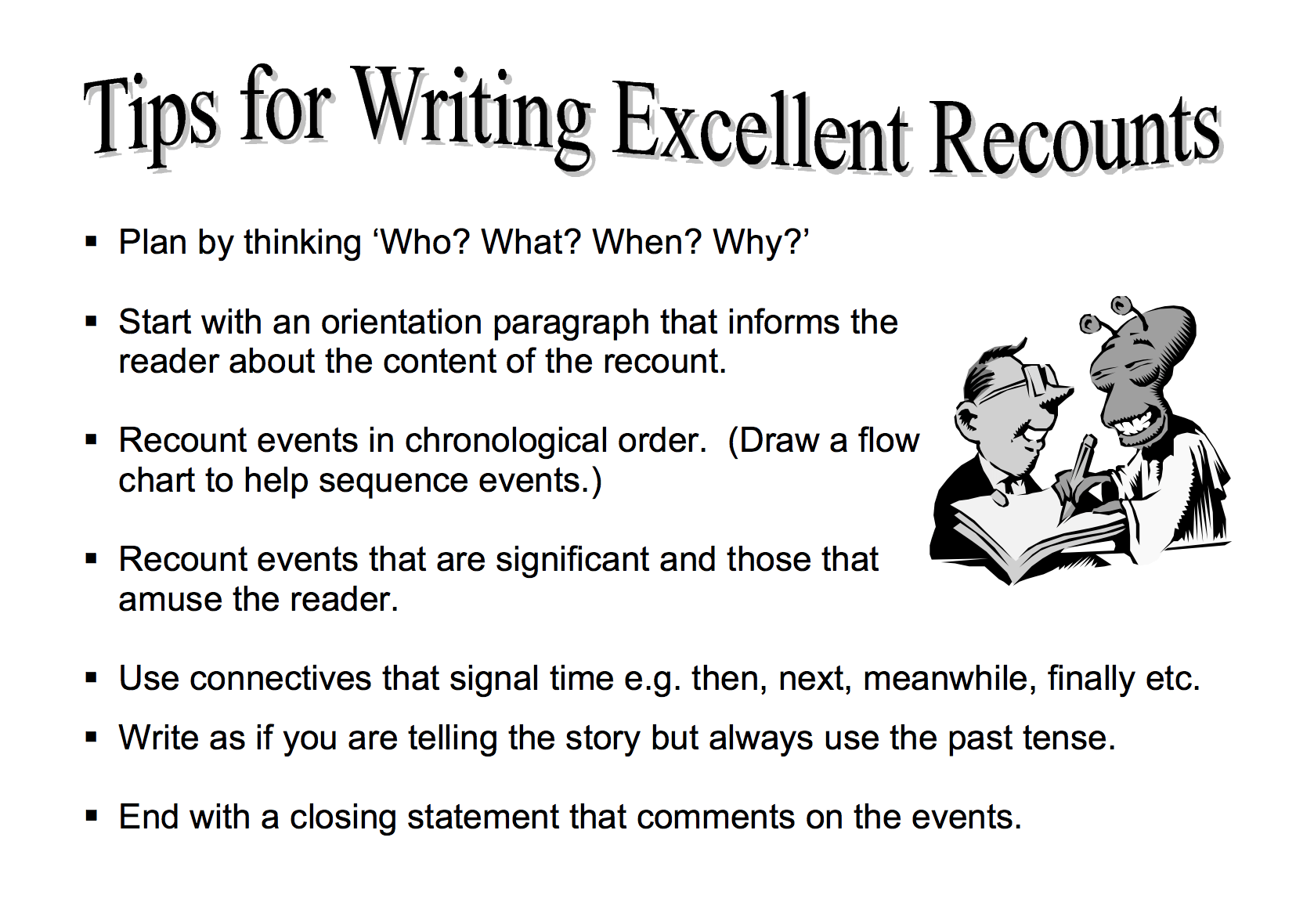 Recount Examples How To Write A Personal Recount 15