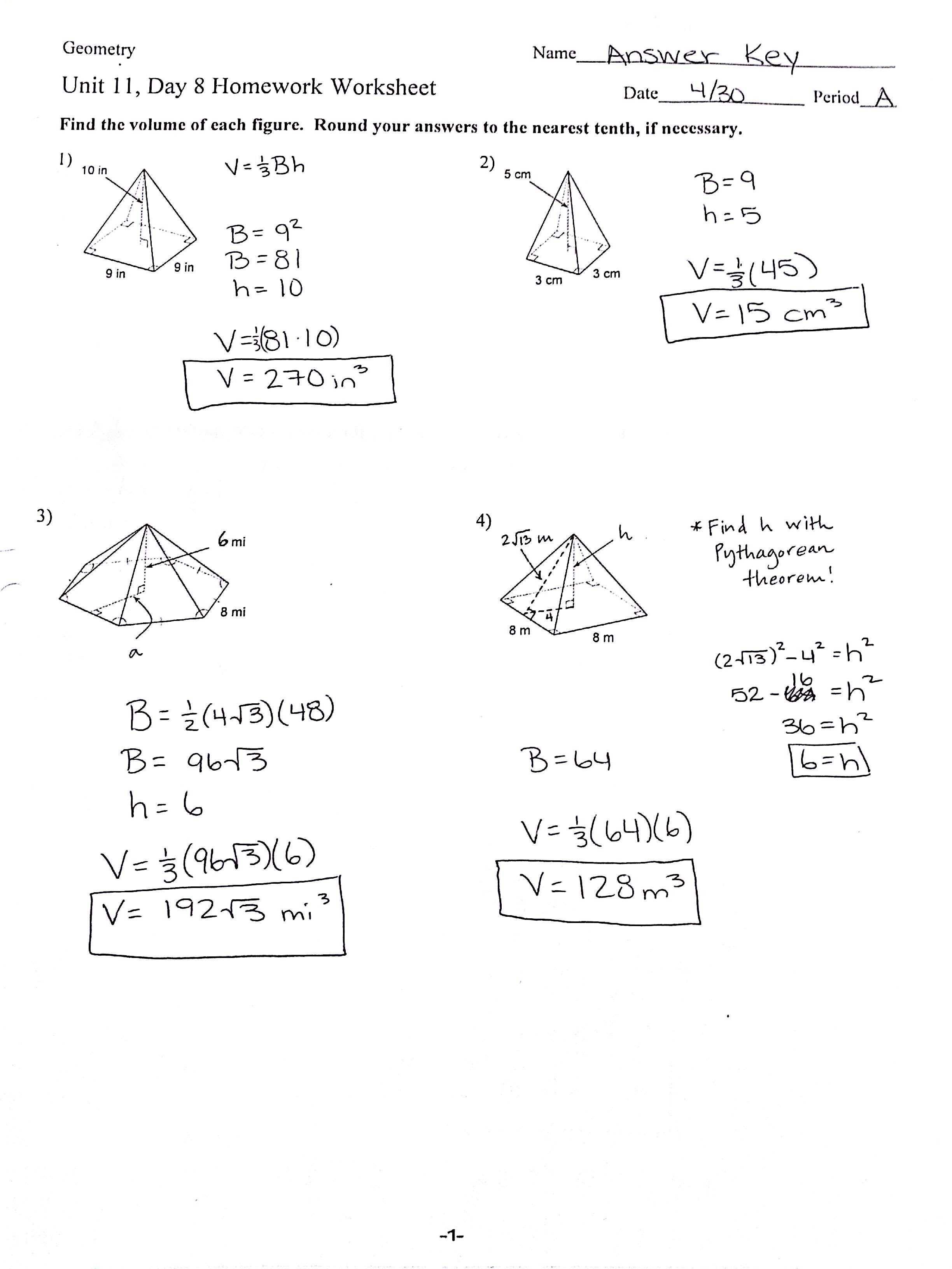 Worksheet Geometry Surface Area And Volume Worksheets Grass Fedjp Worksheet Study Site