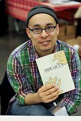 Jonathan Hill holding Americus