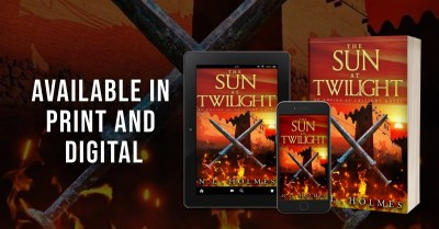 The Sun at Twilight tablet, phone, paperback