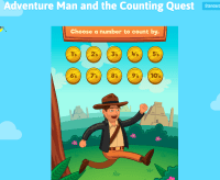 Adventure Man Counting