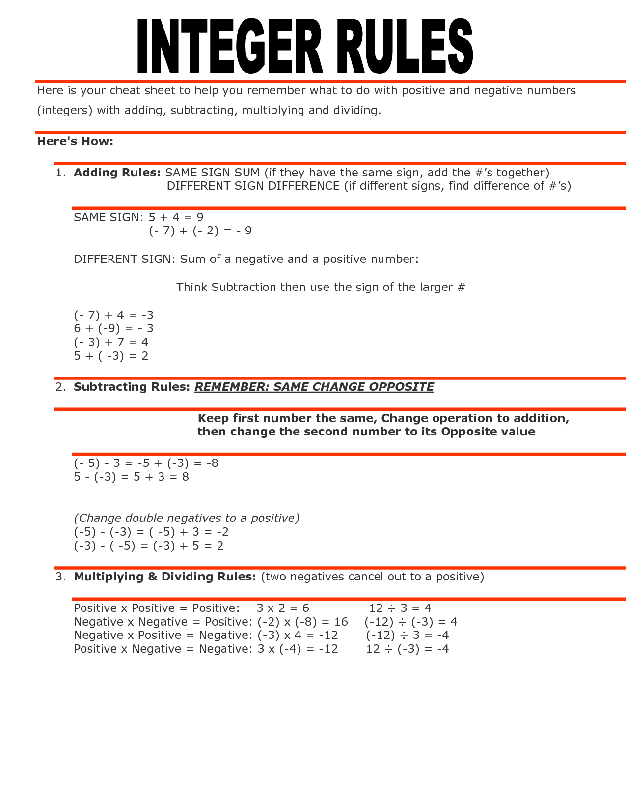 Worksheet Adding Fractions Integers
