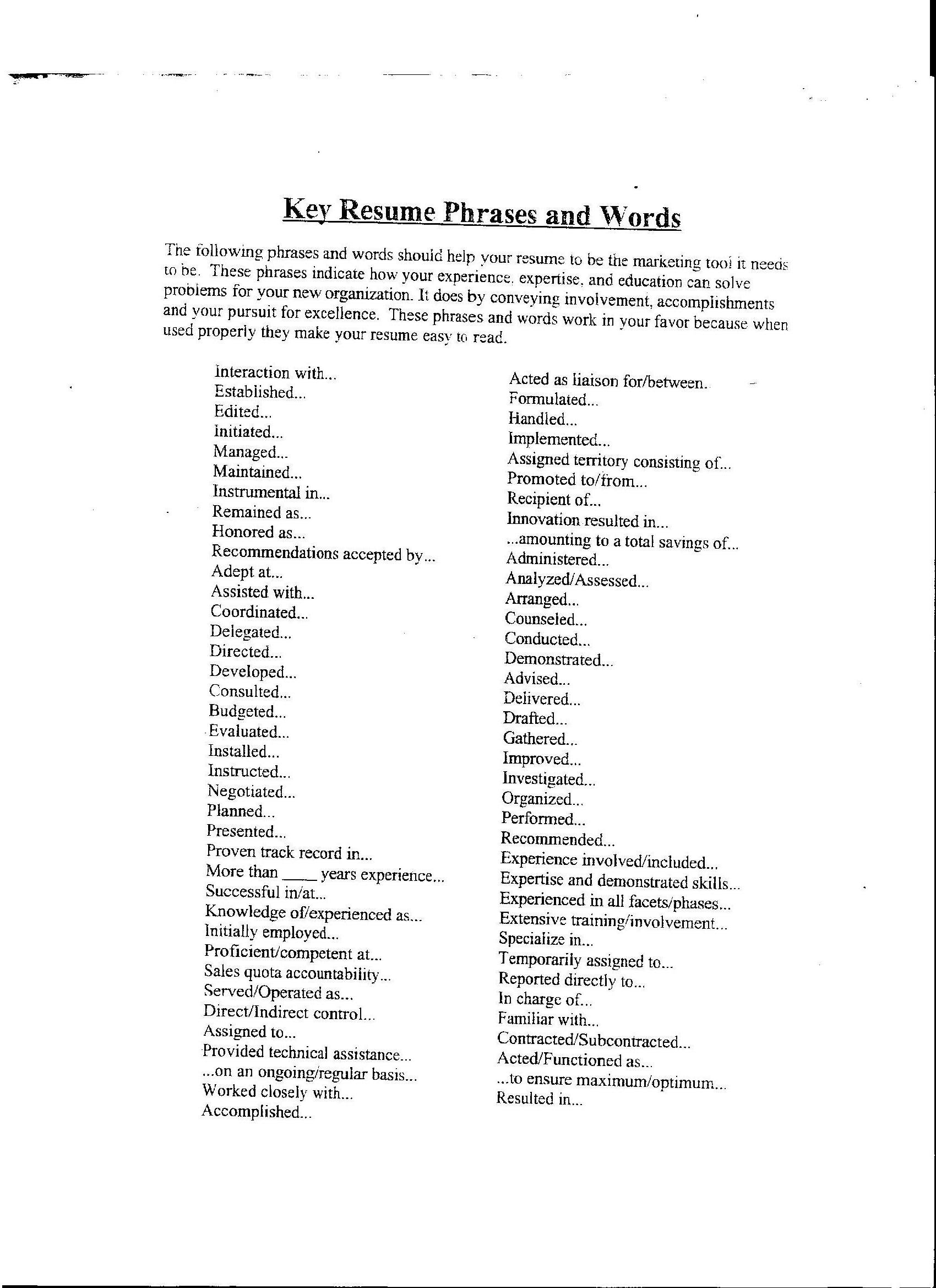 power action verbs resume related post of power action verbs resume