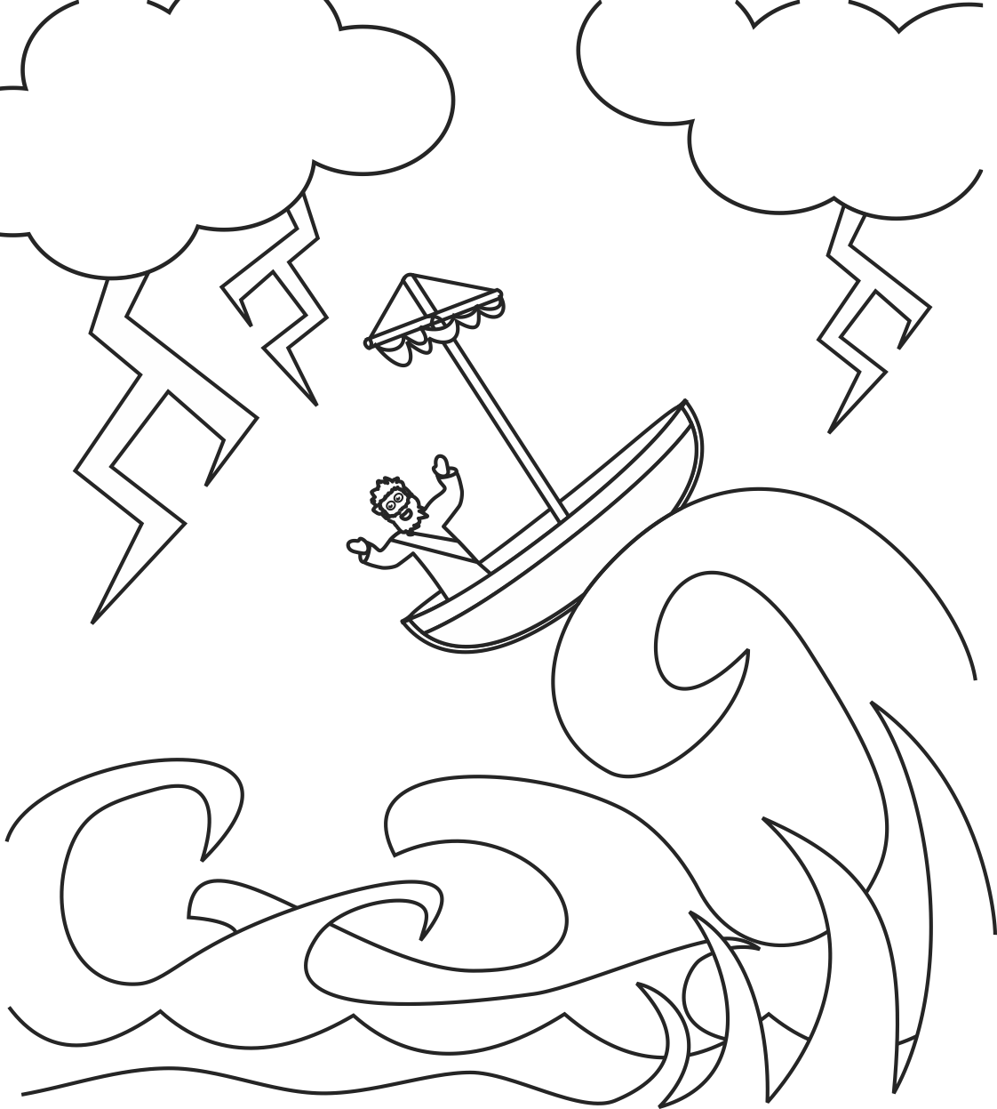 Storm Coloring Pages