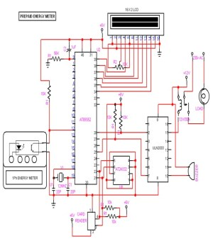 Pre paid Energy Meter Using gsm Circuit Diagram  eceprojects