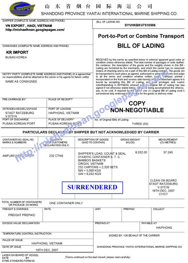 21  free bill of lading template