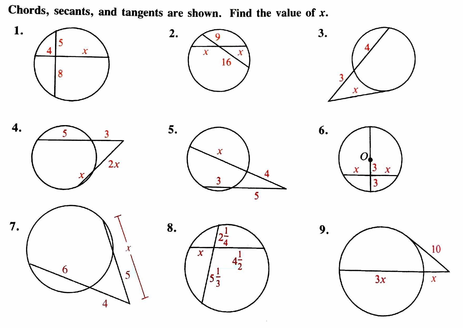 4 5 How Do You Solve Problems Using The Circles Theorems