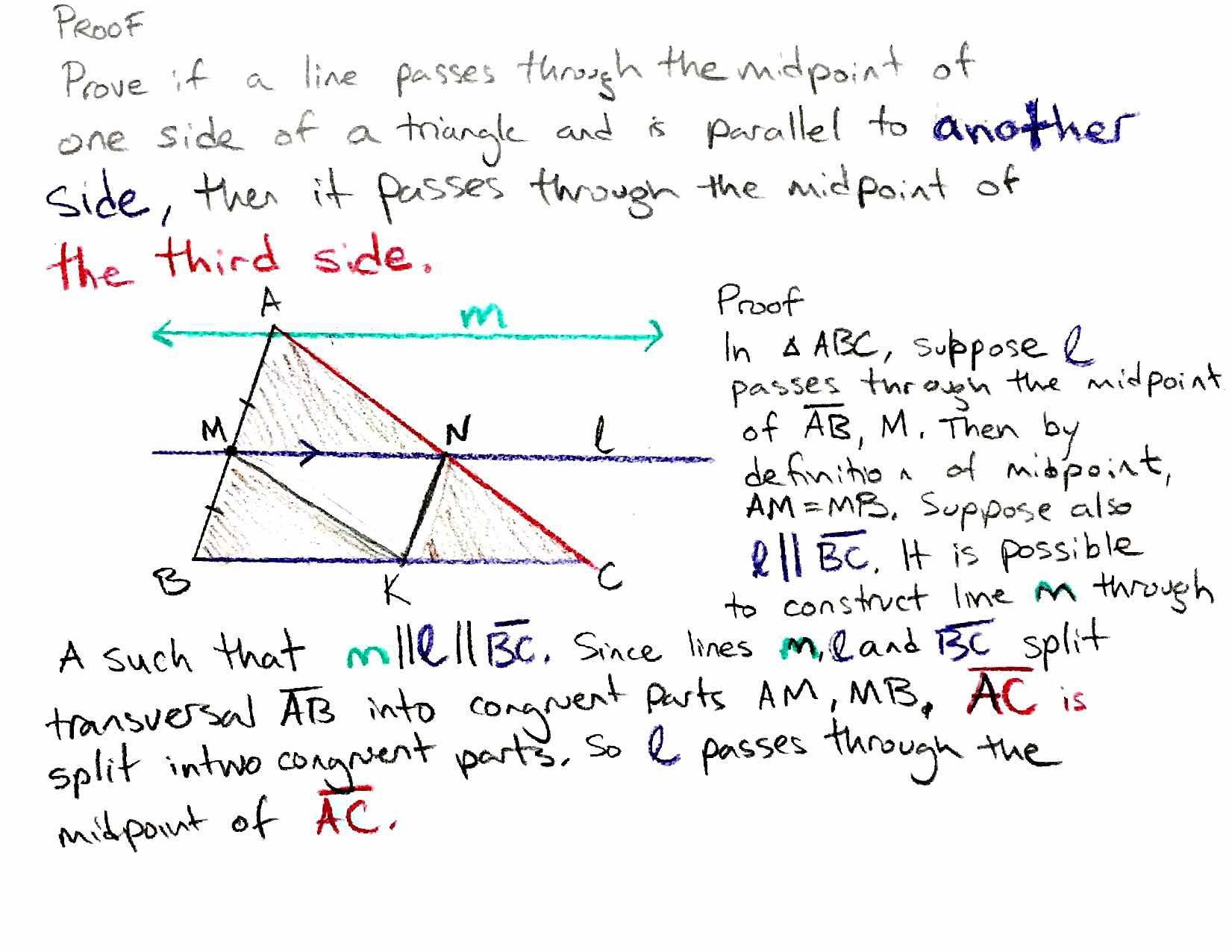 3 4 Proving The Triangle Midsegment Theorem