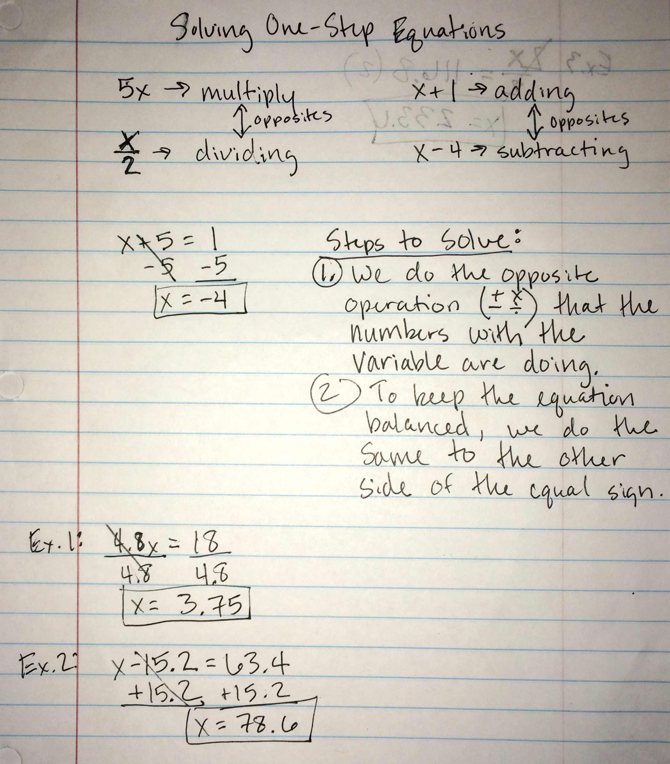 Unit 2 Equations And Inequalities With Variables On Both Sides
