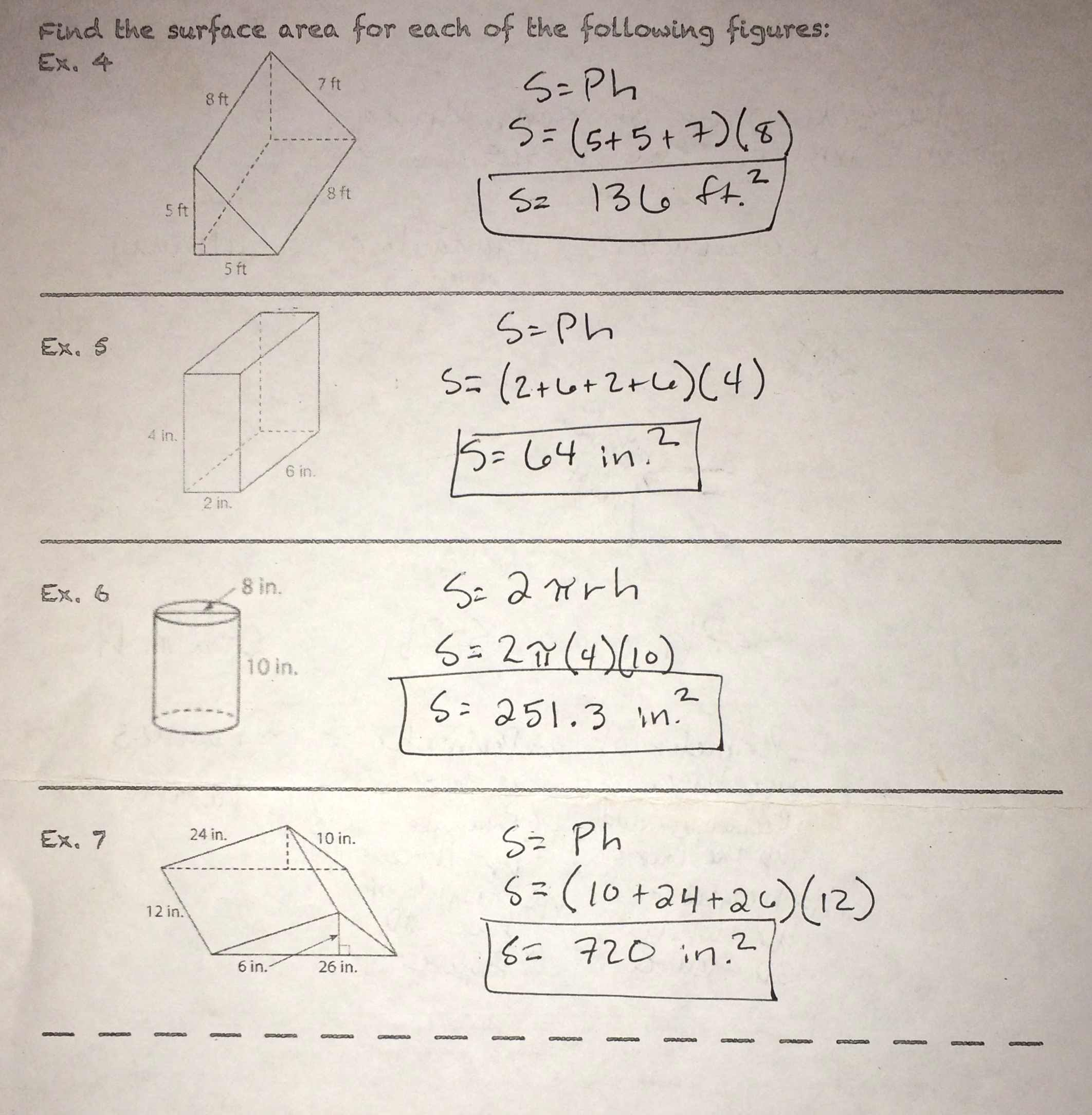 Unit 7 Volume And Surface Area