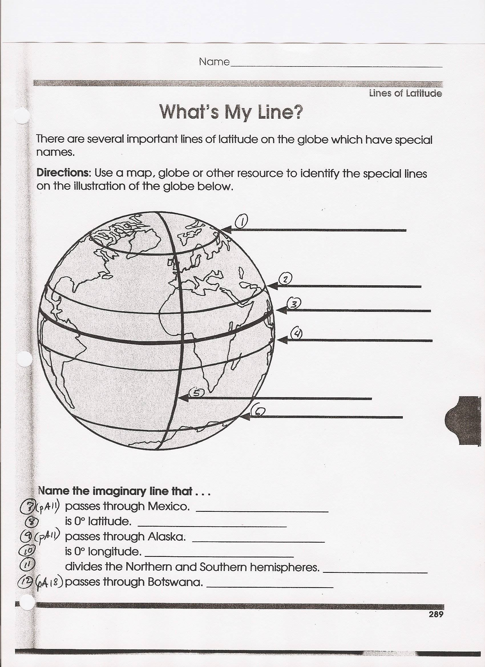 Compass Activity Worksheet