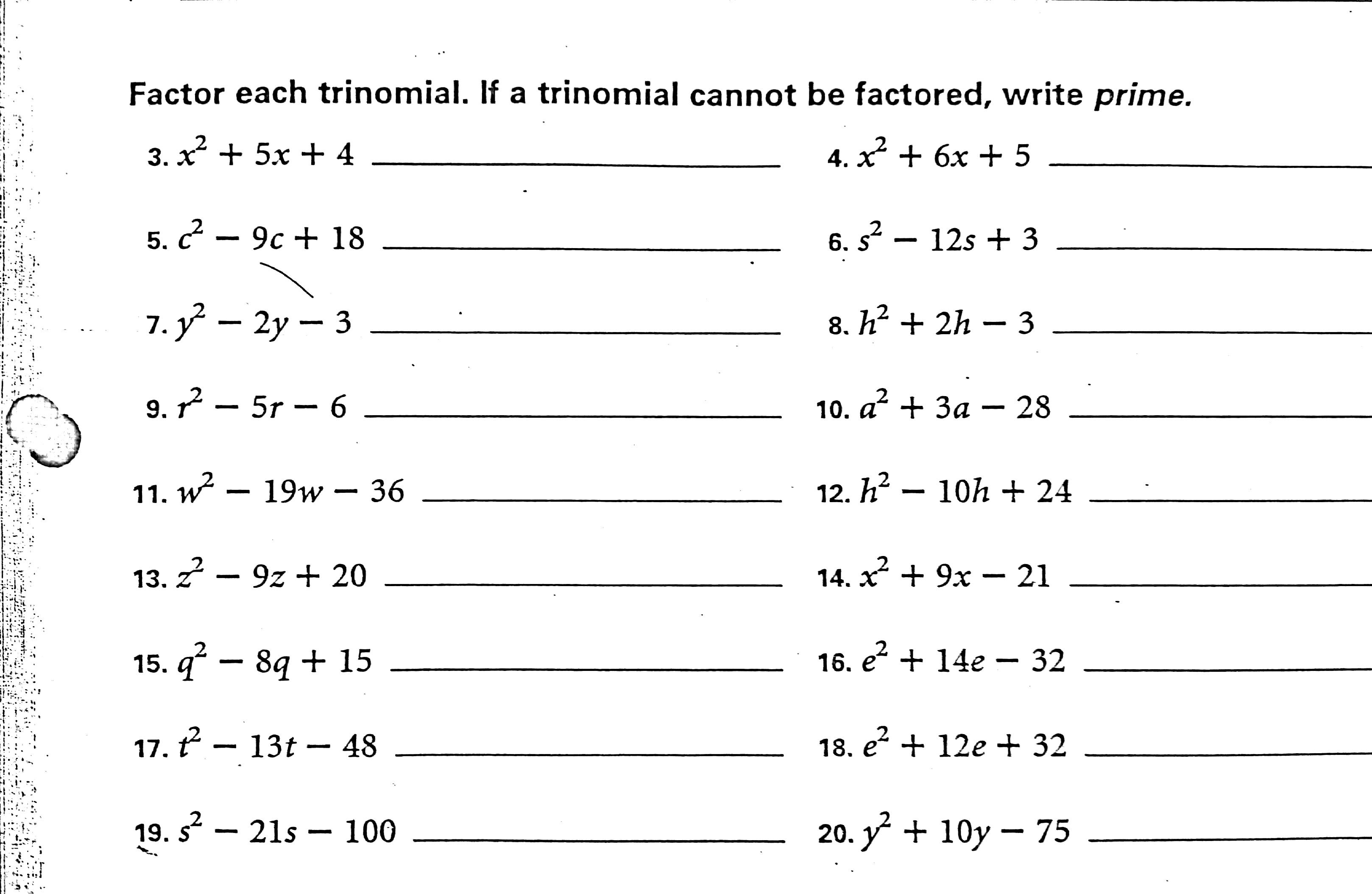 Algebra Worksheet New 162 Algebra Worksheets On Factoring