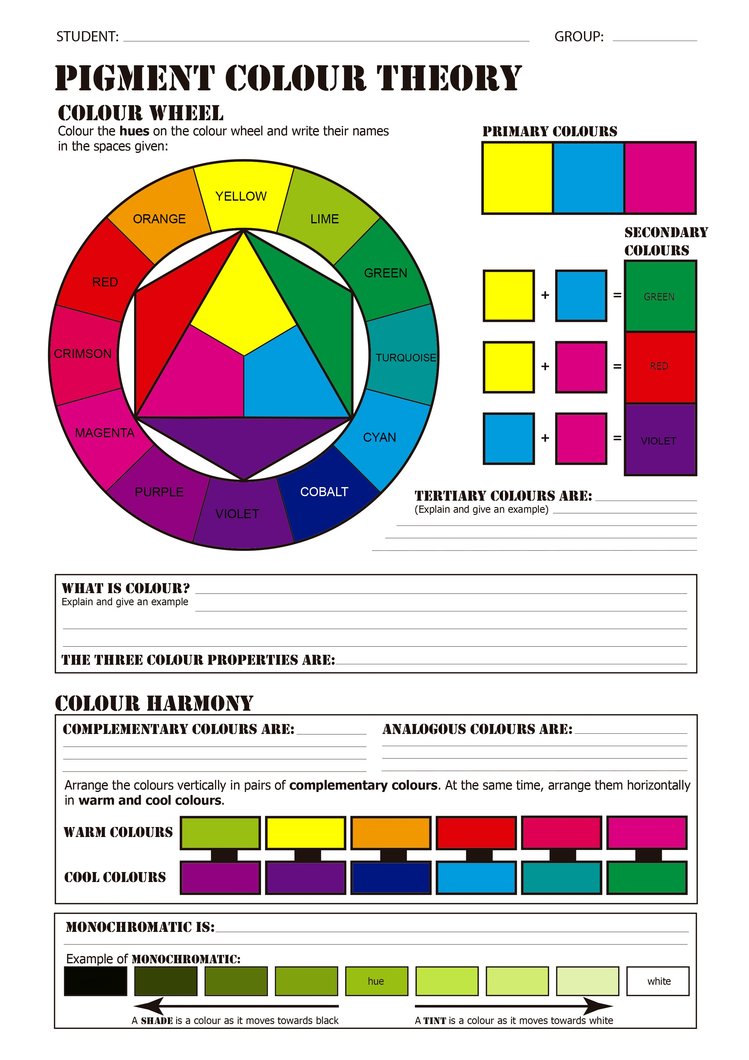 Pigment Color Theory