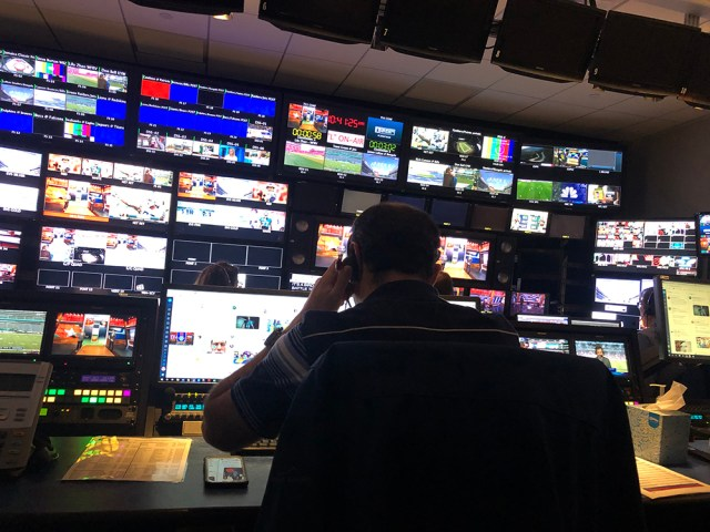 Control room at CBS Sports New York