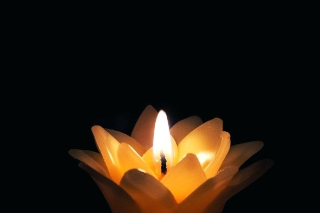 A candle representing knowledge as light in darkness