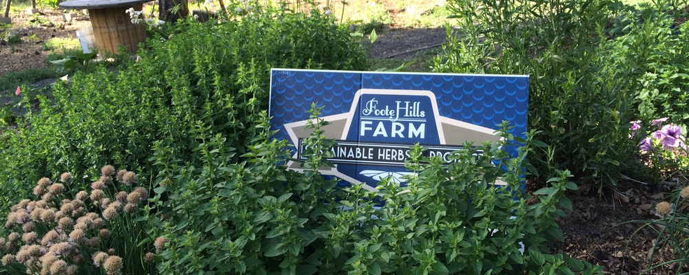 fresh herbs sign at footehills farm