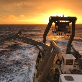Sunset on R/V Atlantic Explorer